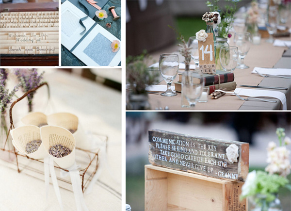 Usar libros en la decoracion de tu boda for Decoracion con libros