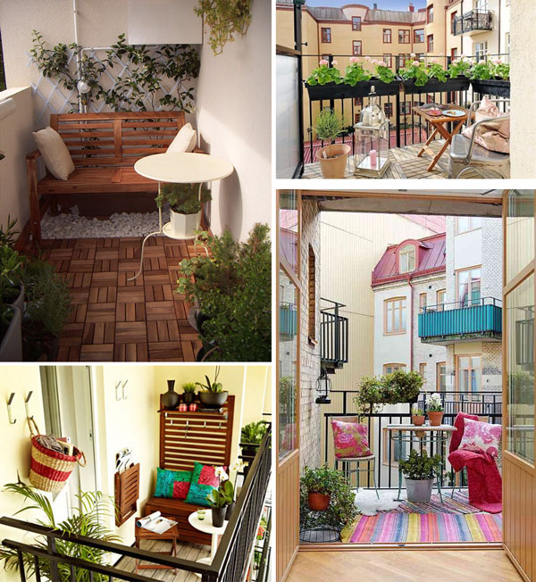 Ideas para decorar tu peque o balc n for Jardines en balcones pequenos