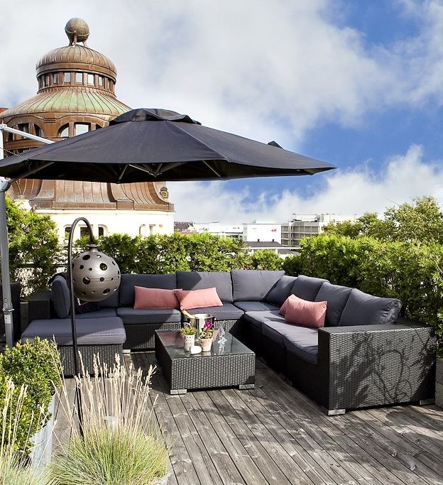 10 ideas para la decoraci n de terrazas de ticos dimeic - Rooftop terrace beautiful and fresh rooftop decorating ideas ...